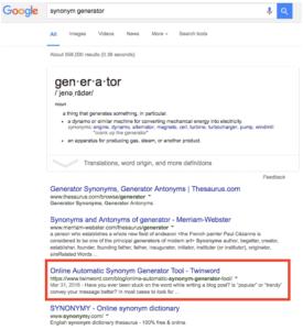 google top Impressions