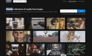 Shopify stock image site