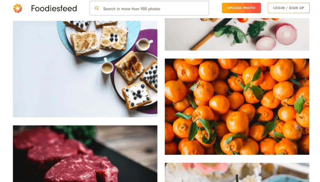 free food image stock site