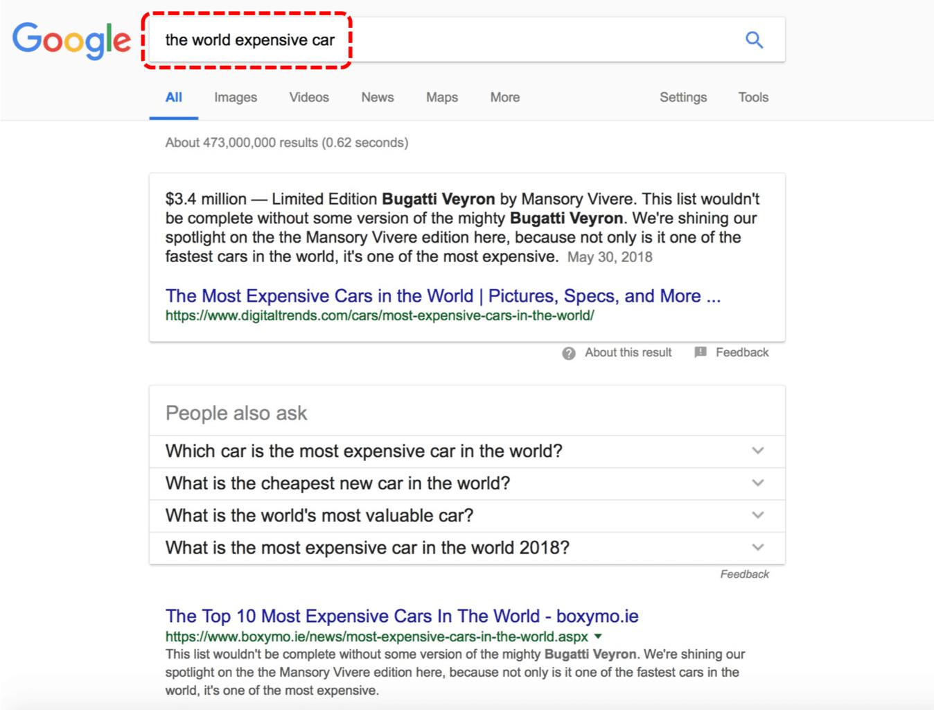 구글 검색 결과 페이지