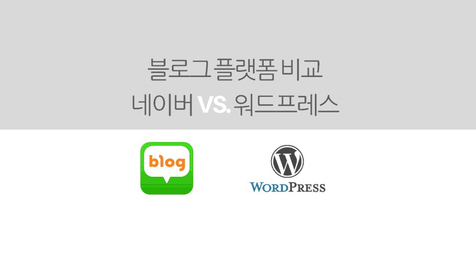 naver wordpress blog comparison