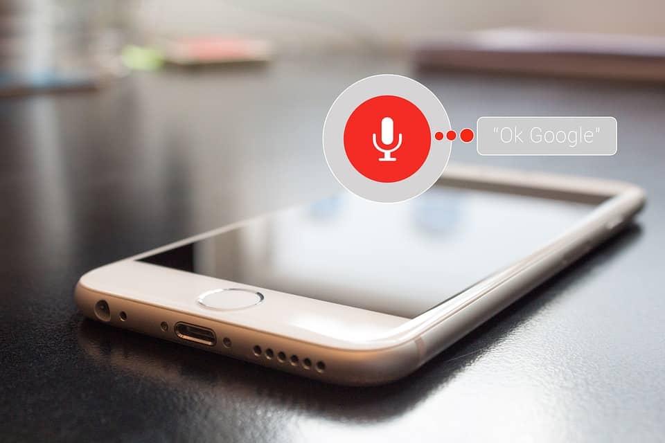 구글 음성 검색-스마트폰