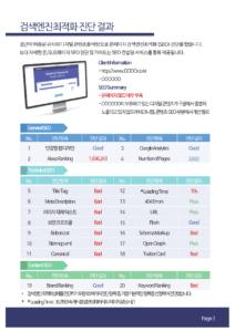 검색엔진최적화 진단 리포트
