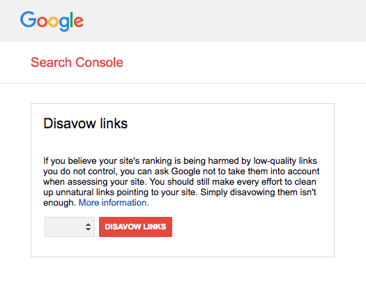 Disavow file-스팸메일, 구글 서치콘솔