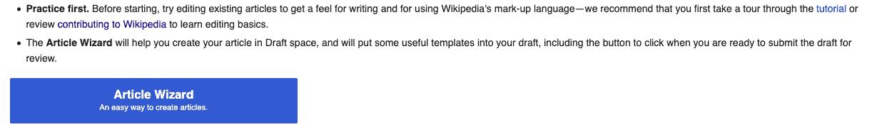 위키피디아 페이지 생성하는 버튼