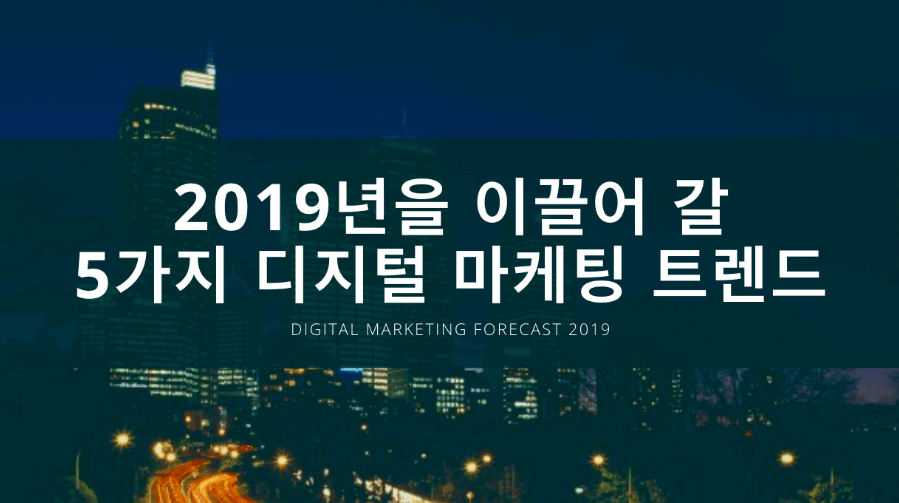 Digital Marketing Forecast 2019