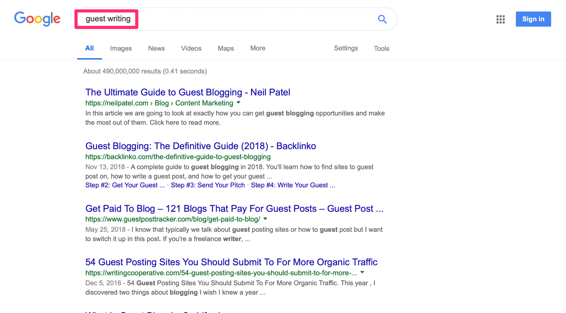 구글의 주제 검색 기능