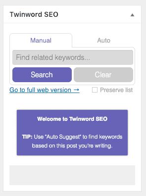 WP Twinword SEO
