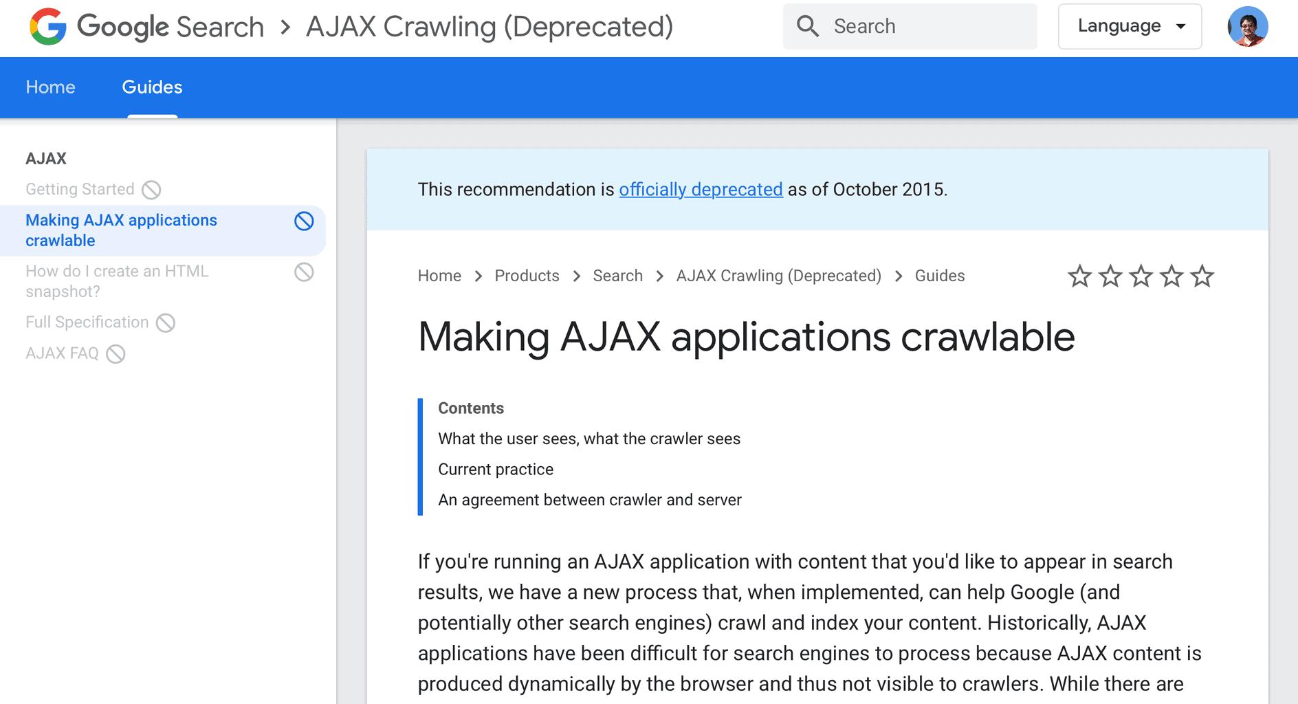 Google Ajax Scheme