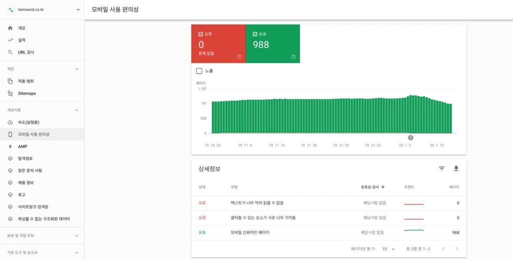 구글 서치 콘솔 개선 사항