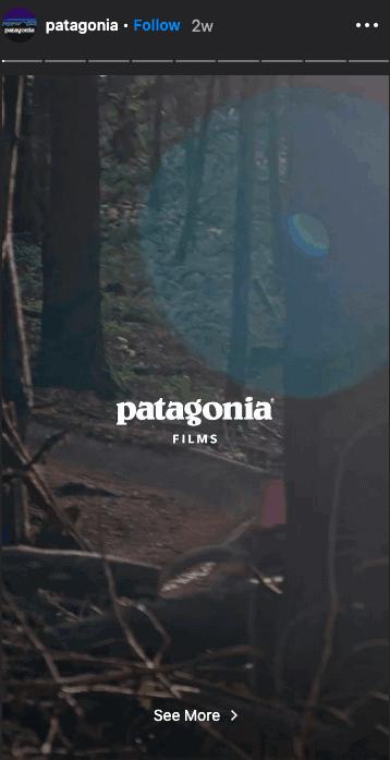 파타고니아 인스타그램 스토리 마케팅 다큐멘터리 스타일